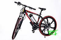 Электровелосипед трендовыйкрутой с литыми ободами и стандартной раме FERRARI BRAND BIKE Черный цвет