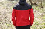 Мужская ветровка  анорак  Nike Найк черно-красная (реплика), фото 2