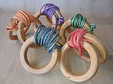 Деревянные гимнастические детские кольца (сиреневые) дляшведской стенки   , фото 2