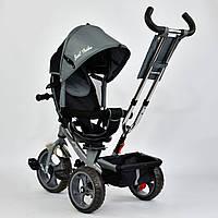 """Детский трехколесный велосипед, поворотное сидение """"Best Trike 5700"""" серо-черный"""