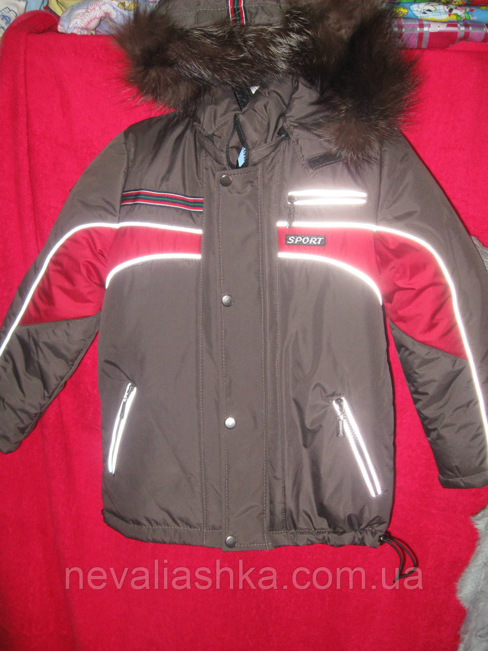 Куртка +подстежка  мех зима раз. 128-134-140  Украина
