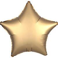 Фольгированный шар звезда сатин золотая 45 см (Anagram)
