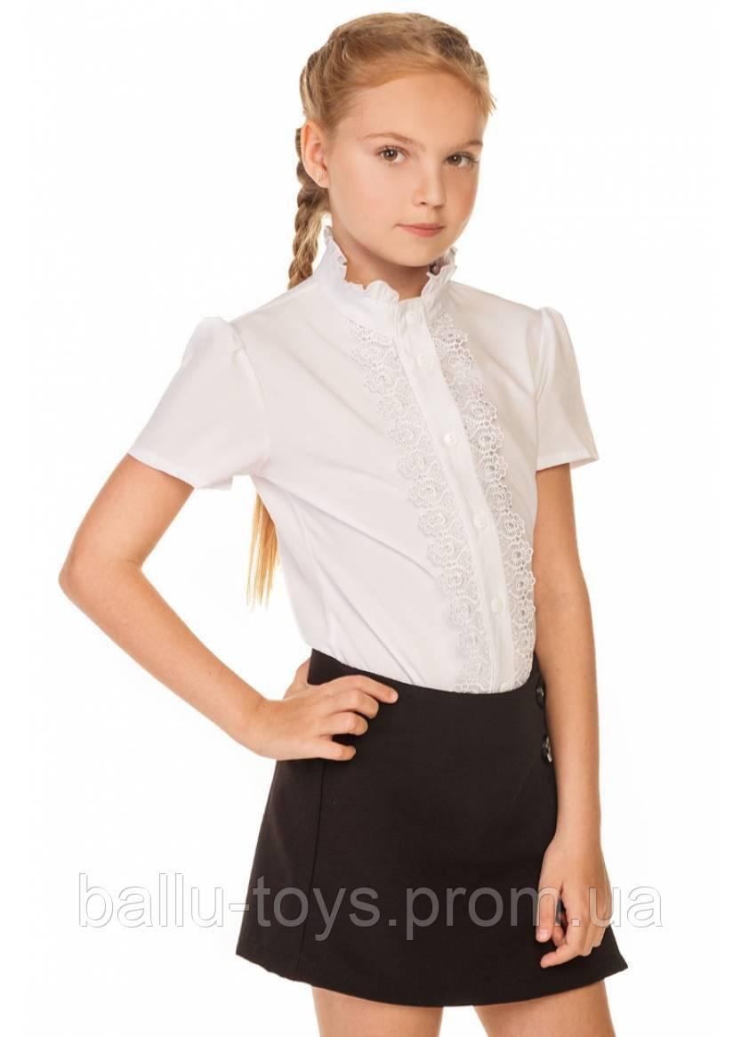 Блуза белая школьная Аурелия (7-15 лет)