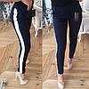 Женские брюки с декорированными лампасами, в расцветках. ОС-1-0718, фото 6