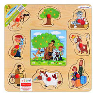 Деревянная игрушка рамка - вкладыш