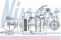 Компрессор, кондиционер NISSENS 89054 на AUDI A8 седан (4D2, 4D8)