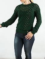 Свитер сеточка зеленый AMN 2009275, фото 1