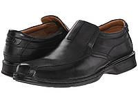 Мокасины (Оригинал) Clarks Escalade Step Black Leather, фото 1