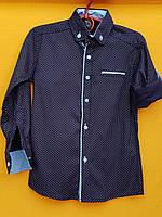 Рубашки подростковые приталенные с длинным рукавом трансформеры (11-15 лет) ШКОЛА  производство Турции