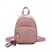 Мини рюкзак женский черный Aster Pink