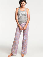 Пижама для сна Victoria's Secret серая майка Angel Love