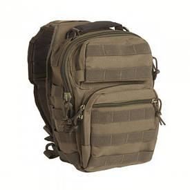 Рюкзак через плечо малый олива Милтек