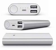 Внешний аккумулятор портативная зарядка Power Bank Повер Банк XiaoMi 16000mAh металический. универсальный АКБ, фото 1