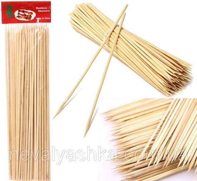 Бамбуковые Палочки 35 см / 5 мм / ~45 шт для шашлыка Деревянные Шпажки шашлыков еды закусок сладкой ваты 9217