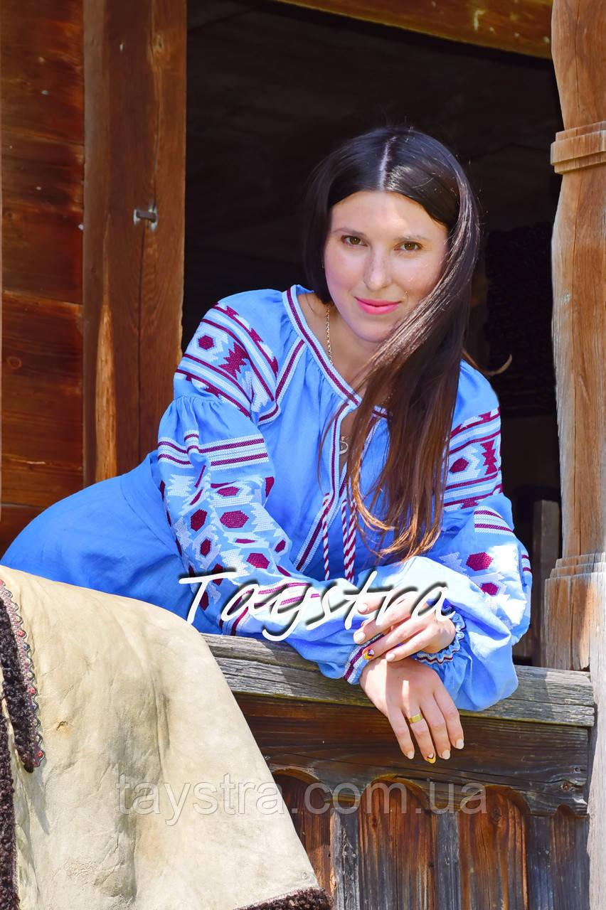 9205a28540875a Платье вышиванка лен этно стиль бохо шик, вишите плаття вишиванка платье  бохо голубое платье
