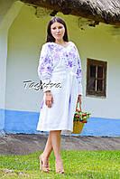 Платье вышиванка лен  этно стиль бохо шик, вишите плаття вишиванка, элегантное выпускное платье белое