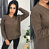 Женский вязаный свитер, в расцветках. ОС-6-0718, фото 4