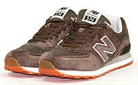 Кроссовки New Balance 574 Натур Замша, Цвет Коричневый, фото 1