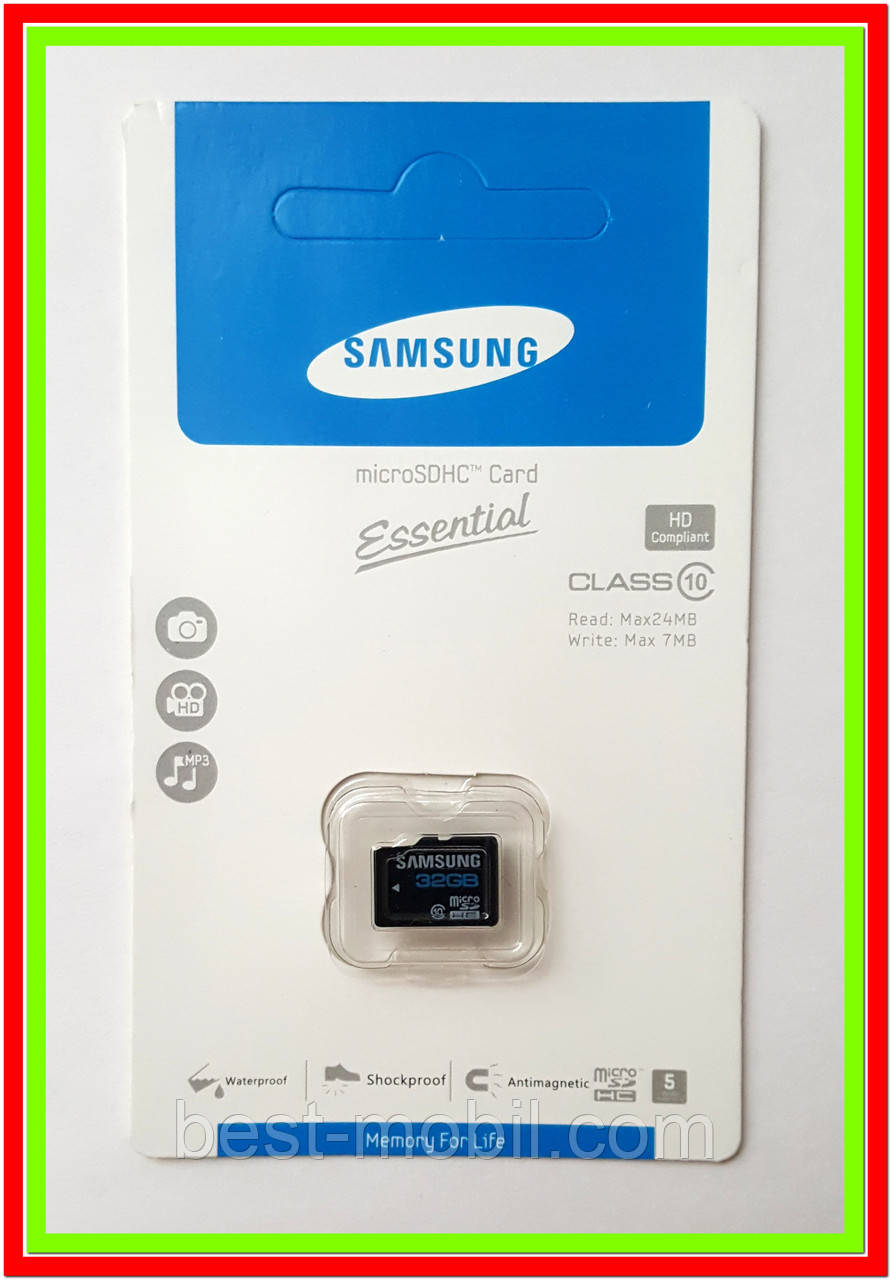 Карта памяти Samsung micro SDHC 32GB class 10