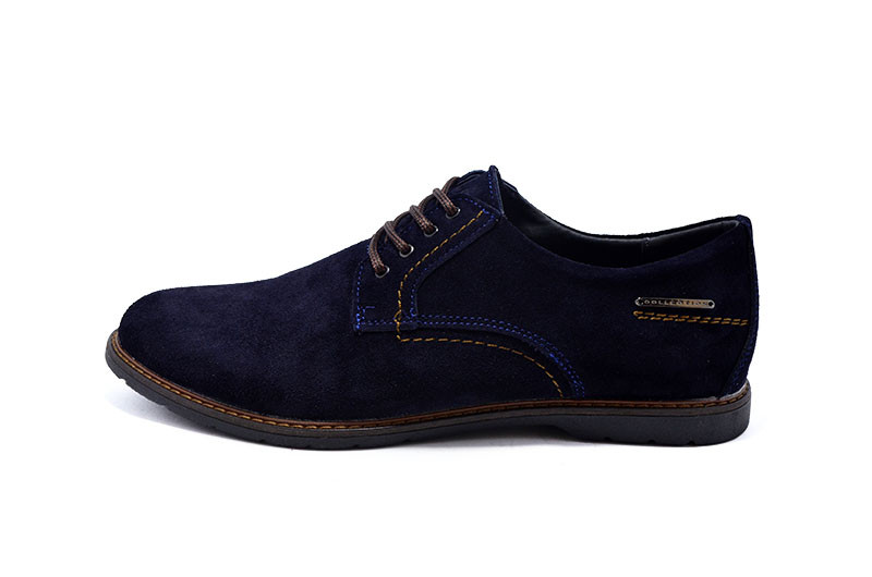 Мужские кожанные туфли Multi-Shoes Frank 99550 Blue р: 43