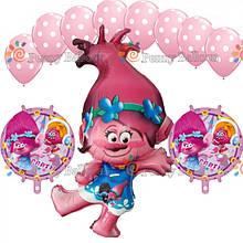Готовый набор из воздушных шаров11шт. Тролли