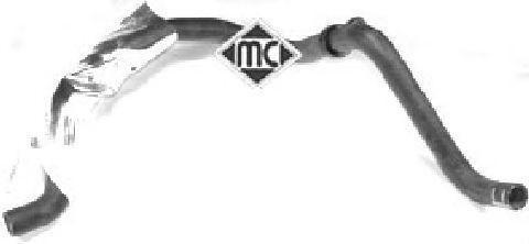 Патрубок радиатора (08595) Metalcaucho