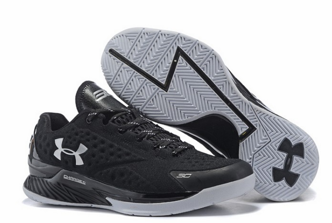 Under Armour 3C CURRY 1 Low Black/White