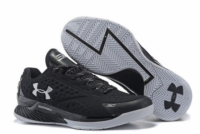 Under Armour 3C CURRY 1 Low Black/White, фото 2