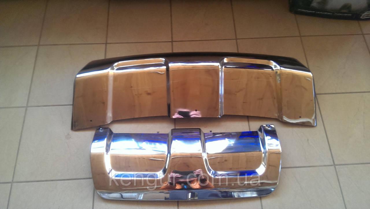 Накладки на бампер Range Rover Sport 2013- - Kengur- запчасти, автотюнинг, аксесуары. Оптом и врозницу в Луцке
