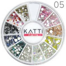 KATTi Декор в карусели 05 стразы стекло ss3-ss10 500шт цветные