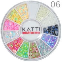 KATTi Декор в карусели 06 жемчуг, 3D блестки бриллиант