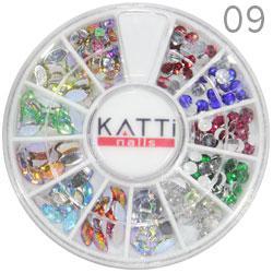 KATTi Декор в карусели 09 стразы акрил фигурные (круглые, глаз, квадрат)