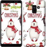 "Чехол на Samsung Galaxy A8 2018 A530F Merry Christmas ""4106u-1344-571"""