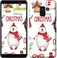 "Чехол на Samsung Galaxy A8 2018 A530F Merry Christmas ""4106u-1344-571"""