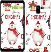 "Чехол на Samsung Galaxy A8 Plus 2018 A730F Merry Christmas ""4106u-1345-571"""