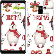 "Чехол на Samsung Galaxy A8 Plus 2018 A730F Merry Christmas ""4106u-1345-571"""