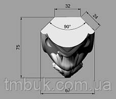 Ножка кабриоль с удлиненным основанием царги. Опора для шкафа, комода, кровати из дерева. 850 мм, фото 3