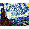 Картина по номерам Абстракция - Звездная Ночь. Ван Гог КНО124