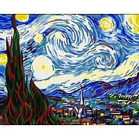 Картина по номерам Абстракция - Звездная Ночь. Ван Гог КНО124, фото 1