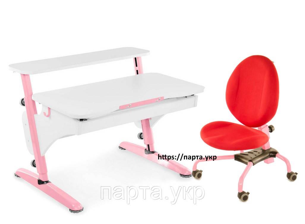Школьная регулируемая парта 90см и эргономическое кресло