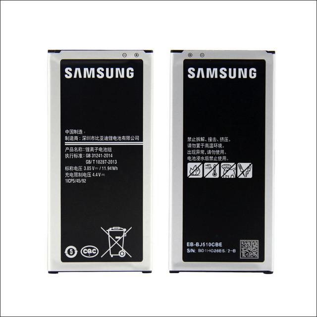 Аккумуляторная батарея EB-BJ510CBC для мобильного телефона Samsung J510F, J510FN, J510G, J510 Galaxy j5 2016