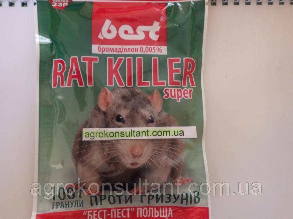 Rat Killer, Рат Кіллер, 100 г — гранули від щурів, мишей, гризунів.