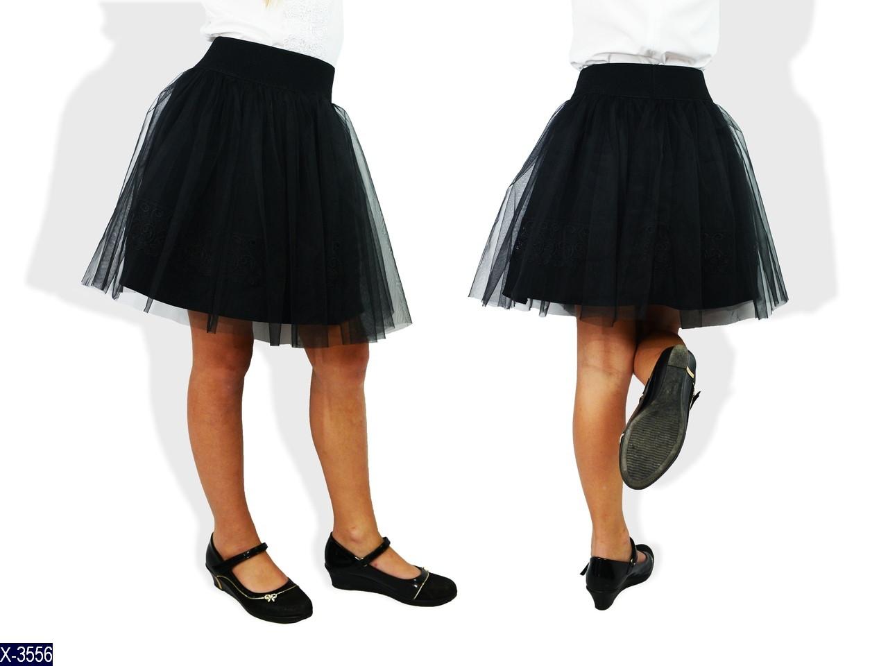 Юбка школьная чёрная ткань нижней юбки габардин,отделка нижней юбки турецкое кружево,верхняя юбка евро сетка