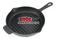 Сковорода-ГРИЛЬ чугунная круглая 260х50мм с литой ручкой LAHN (Лан) Украина С2602