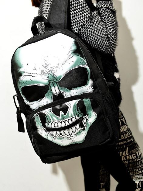 Крутые рюкзаки с принтом  Череп