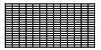 Пробивные полотна с прямоугольными щелевидными отверстиями со скругленными углами, расположенными рядами