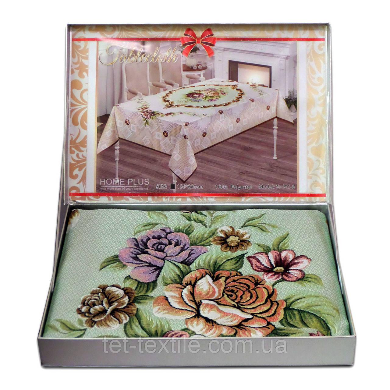 Скатерть цветочный букет в чемоданчике Home Plus (150x220cm.)