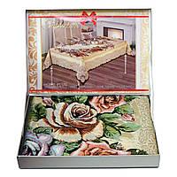 Скатерть букет роз в чемоданчике Home Plus (150x220cm.)