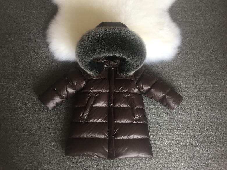 Детская курточка на пуху Sabbi коричневая