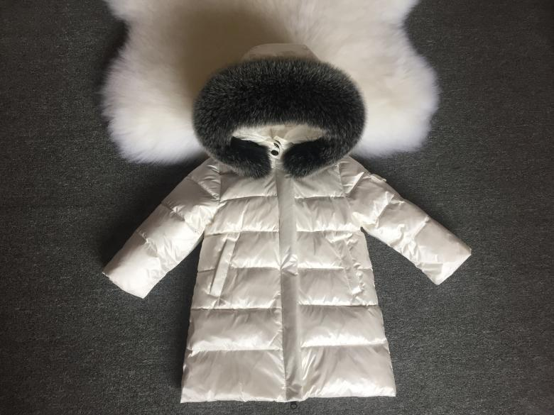 Детская курточка на пуху Sabbi белая